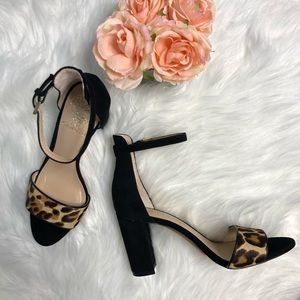 Vince Camuto Corlina Block heel Cow Hair Leopard